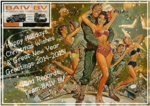 Happy Holidays, Christmas Wishes and Great New Year Greetings 2014-2015 by BAIV BV