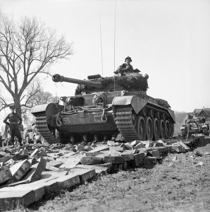 2nd_Fife_and_Forfar_Yeomanry,_11th_Armoured_Weser_Petershagen_7_April_1945