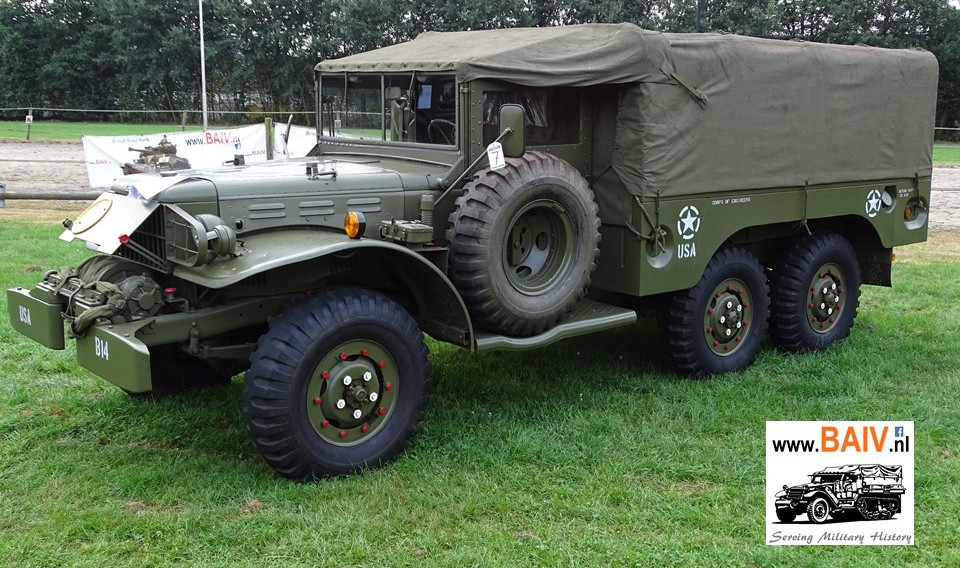Sold 1942 Dodge Wc 63 With Winch Baiv Bv International
