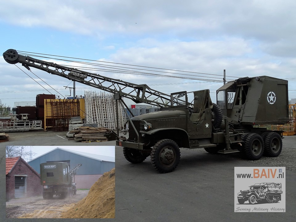 1943 Gmc Cckw 353 With 4 Tons Quick Way Crane Baiv Bv